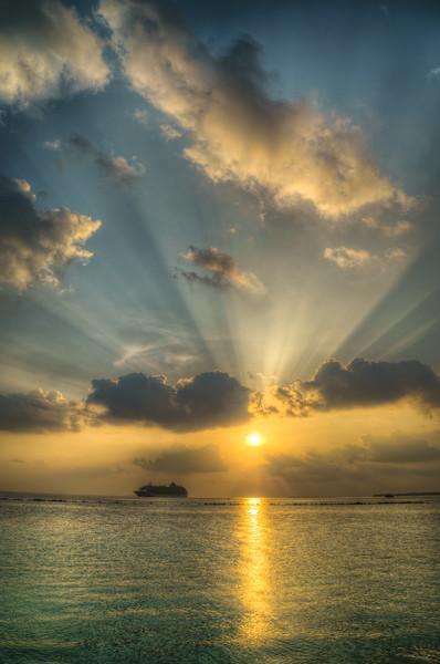 Sunset on the Maldives