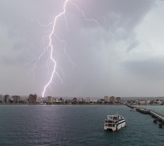 Lightning in Puerto Madryn, Argentina