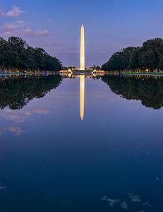 The Washington Monument reflected