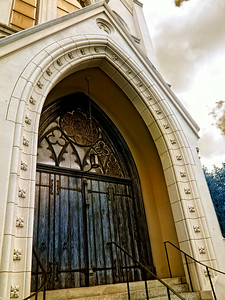 New Orleans Church Blue Door IR