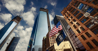 At Ground Zero, New York, the Freedom Towers were near completion.