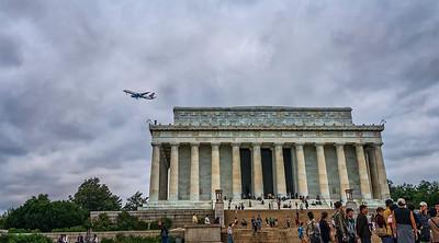 Jumbo Jet over Lincoln