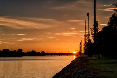 Sunrise on the Oklahoma River