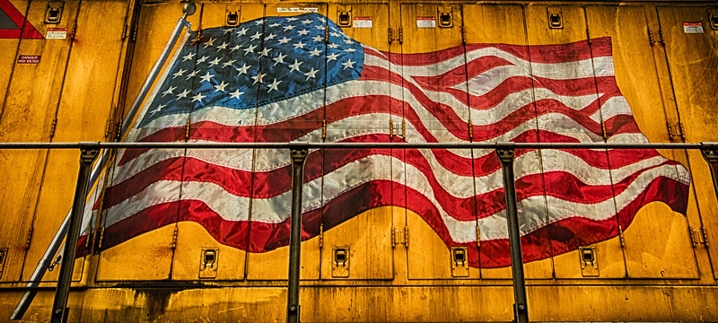 Union Pacific American Flag