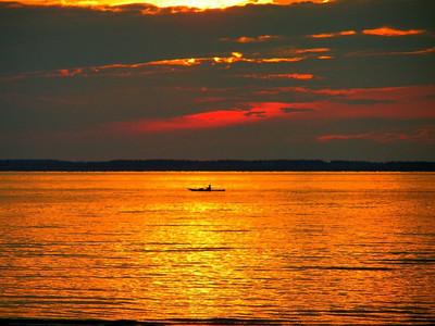 sunset, The Cottage, River John, Nova Scotia, july 19, 2008 PICT7497asm