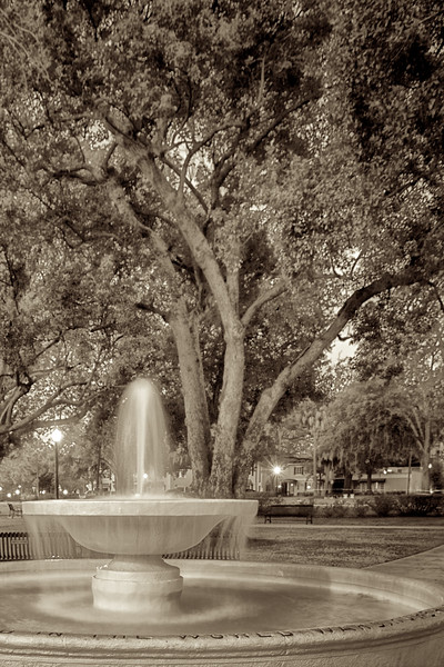 "WPP2011  ""Veteran's Fountain, Central Park"" sepia"