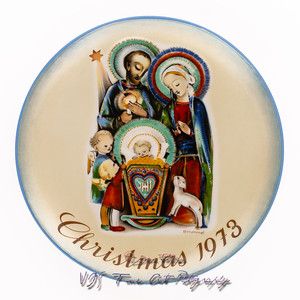 Nativity Christmas Plate