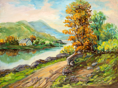 Rural Scene Landscape Oil Painting