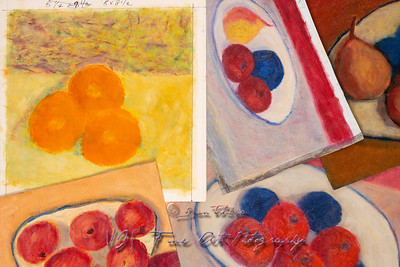 Painting Studies of Fruits on a Plate
