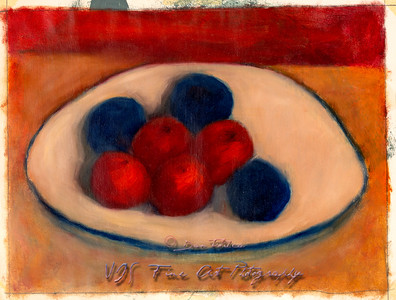 Painting Study of Fruits on a Plate