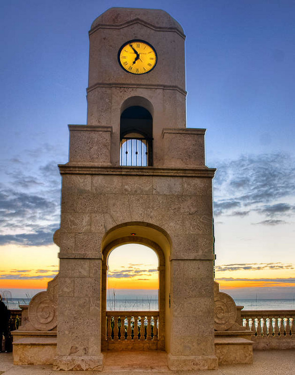 The Clock Tower at 6:55 am.
