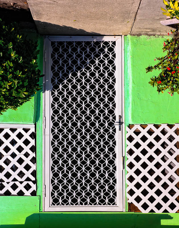 A front door on 10th Street.