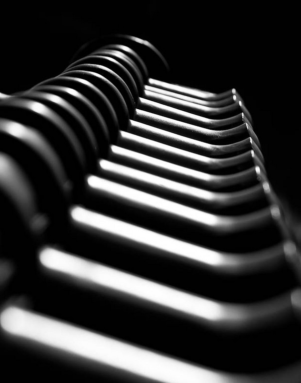 Railing Abstract in Black and White