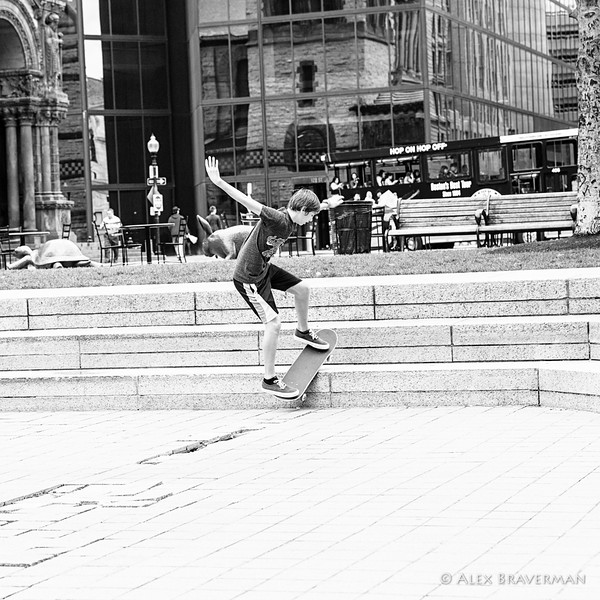 Copley and the skateboard