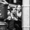 street, two girls