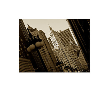 Wrigley Building, Michigan Avenue, Chicago 2005