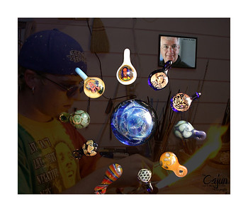 Glass Blowing by Herbie Fisher - Photography By Lloyd Kenney III (C) 2004 All Rights Reserved