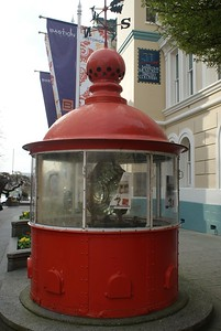 Old light house now placed in downtown Victoria BC as a landmark