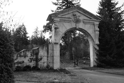 Pacific Rim Artisan Village, Chemainus BC.  This project was started by a local artist but was abandoned.  This gate now resides on someones personal property.
