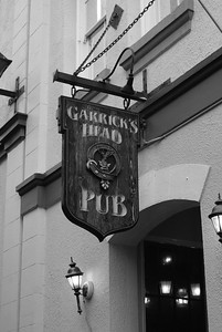Classic pub sign, located in downtown Victoria BC