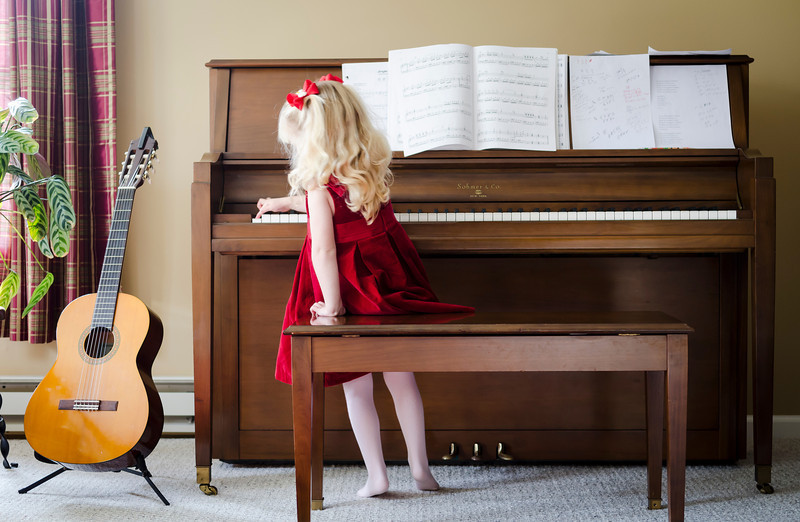 Girl And Piano