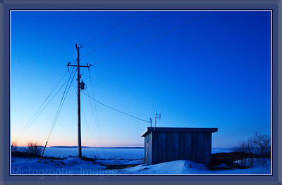 Blue Hour Photo; The Control Shack