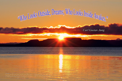Giant Sun Rise, 2018, Photo Quote, Carl Gustav Jung,