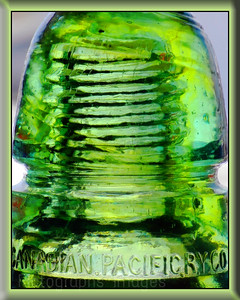 #A #Communication Artifact, An Antique Glass Insulator,  Rictographs Images