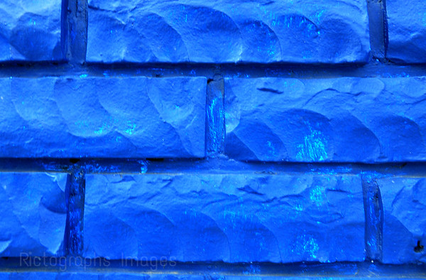 Blue Brick Wall