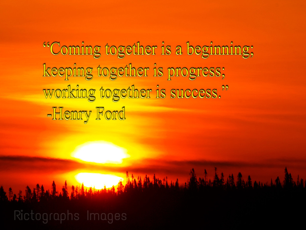 A Photo Quote, Henry Ford, Boreal Forest Sunrise; Rictographs Images