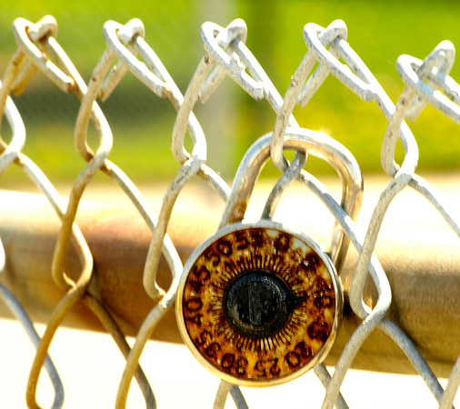 Rusty Lock Chain Link Fence