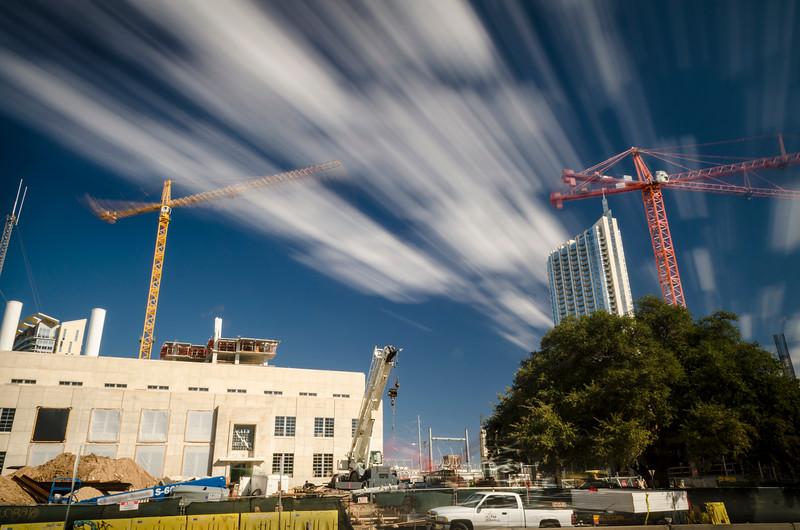 Two Sky Cranes