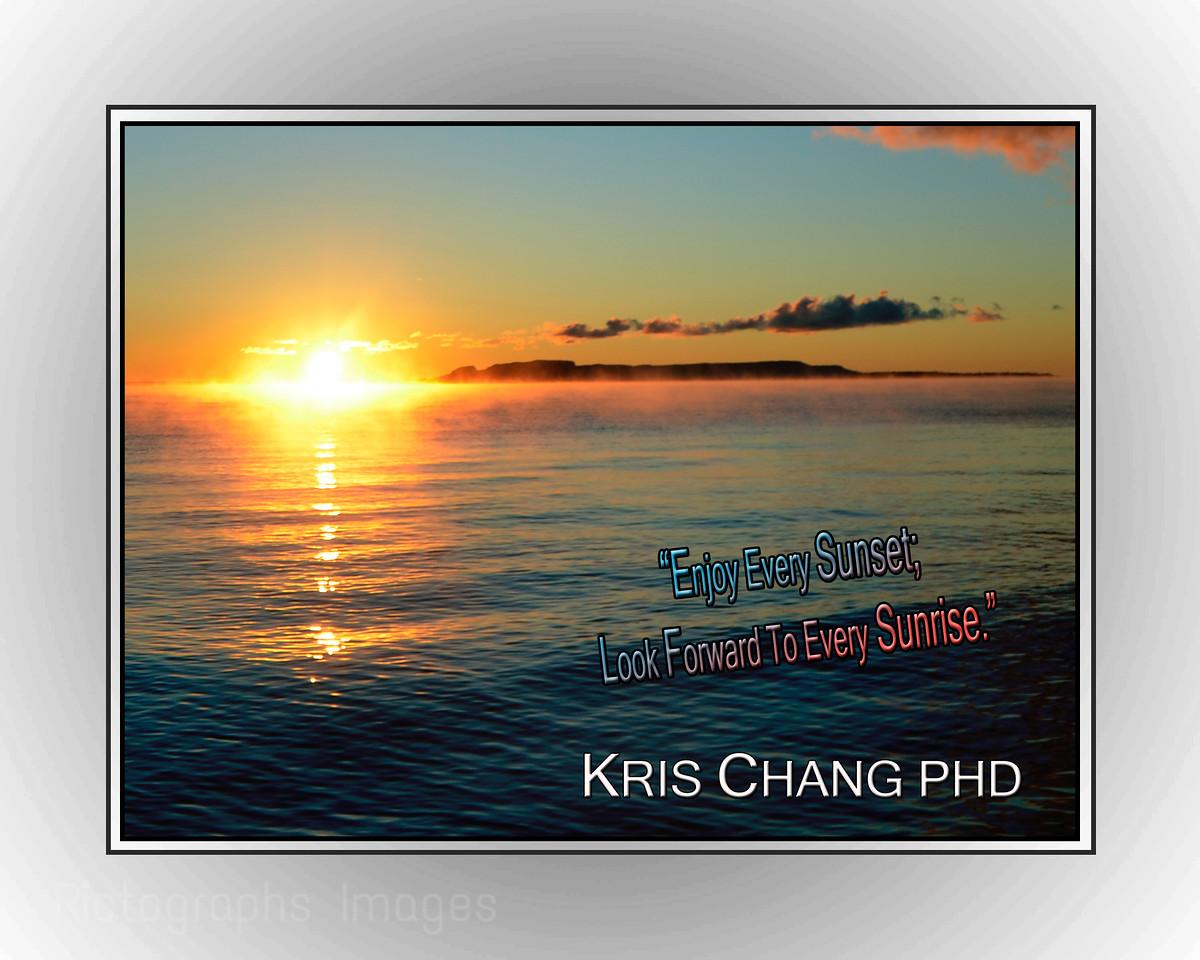 Kris Chang PHD Quote, Sleeping Giant, Nanabijiou, Lake Superior, Thunder Bay, Ontario, Canada, Autumn 2015 Rictographs Images