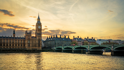 Westminster in Sunset