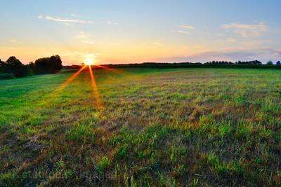 Sun Rising At The Farm