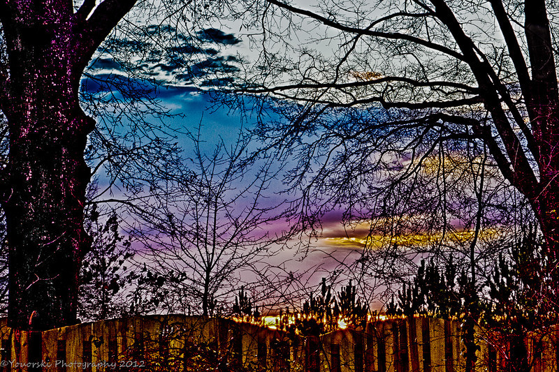Over the fence sunrise ll