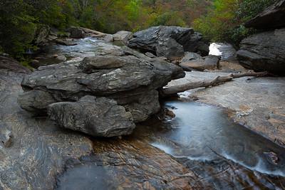 Waterfall, Graveyard Fields, Blue Ridge Parkway, North Carolina