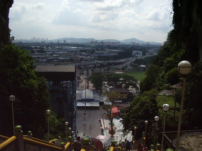 View down from Batu Caves