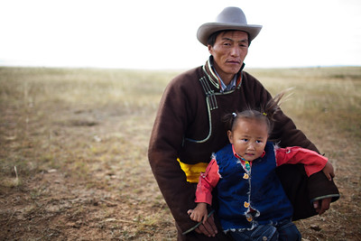 Father and son - Mongolia