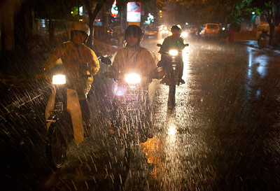 Rainy night in Cambodia