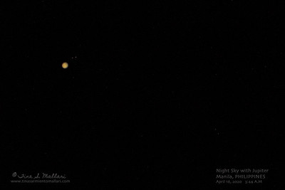 Jupiter and some of it's moons