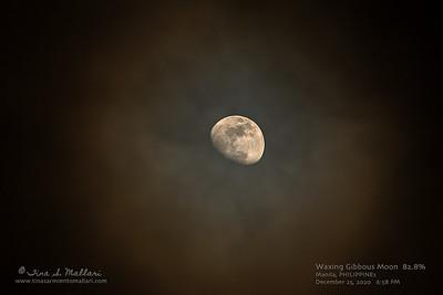 Waxing Gibbous Moon (82.8%)