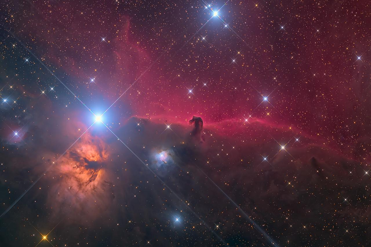 Ic434, HorseHead Nebula, Flame ASA N10 F3.59 FLI Microline 11002 OSC NMSkies Remote Nov Dec Jan 2012, 2013 29X600 10X1200 PI, PS6