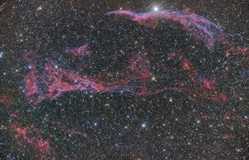 Western Veil and Pickering's Triangle ASA N10 F3.59 FLI Microline 11002 OSC Paramount MX Taken from NMSKies remote Oct 2012 28X600 sec -30C