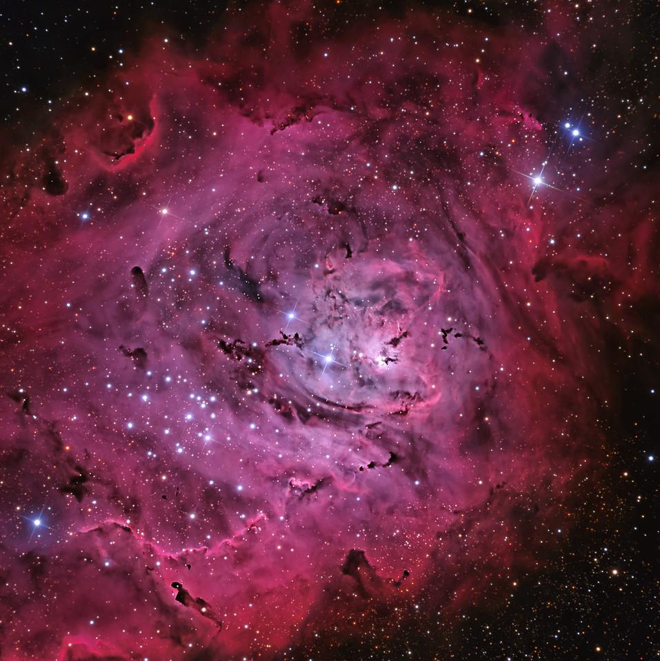 "M8 The Lagoon Nebulae RCOS 16"" ion milled AP1600 Apoge Alta F16 May 2013 New Mexico Skies Remote HaO3LRGB 3,3,2,2,2,2"
