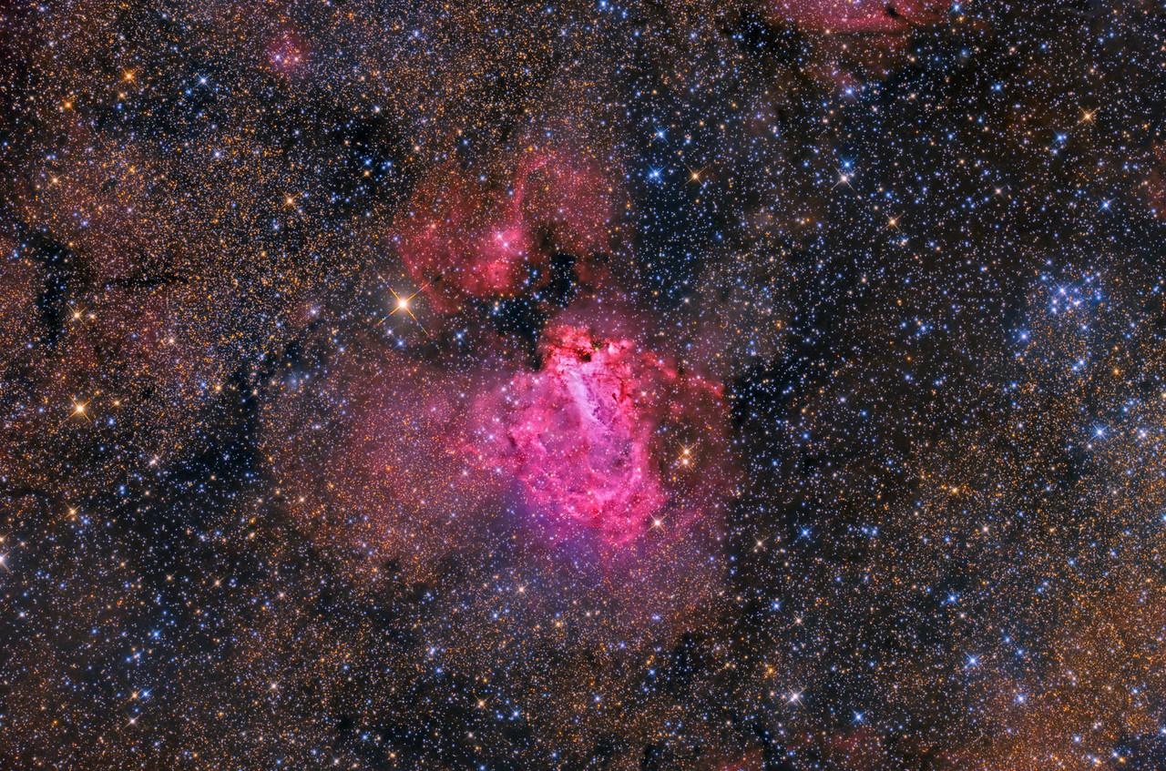 M17 The Omega Nebula ASA N10 FLI Microline 11002 OSC 6X1200 -35C NMSKies Remote  April 2013
