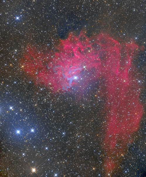 IC 405 The Flaming Star Nebula NMSkies Remote  Dec 5-8, 2012 ASA N10 Newtonian F3.59 99X300 -35C