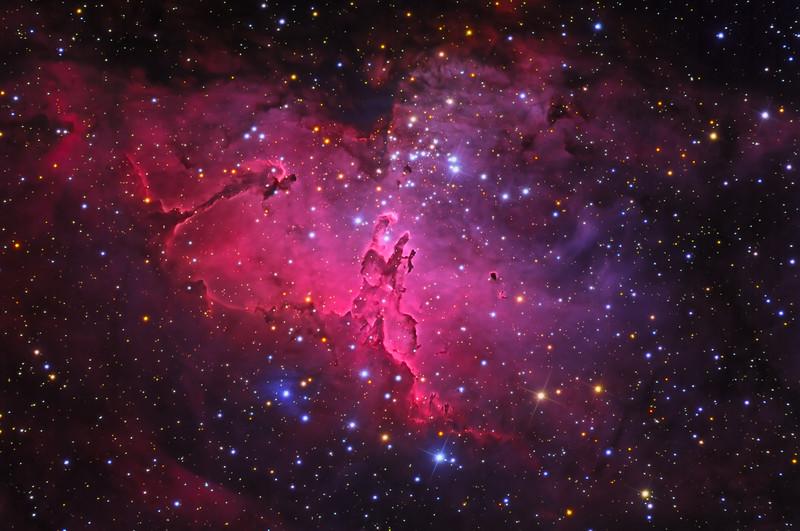 "M16 The Eagle Nebula Apogee F16M 16""RCOS F9 HaLRGB NMSkies Remote May 2013"