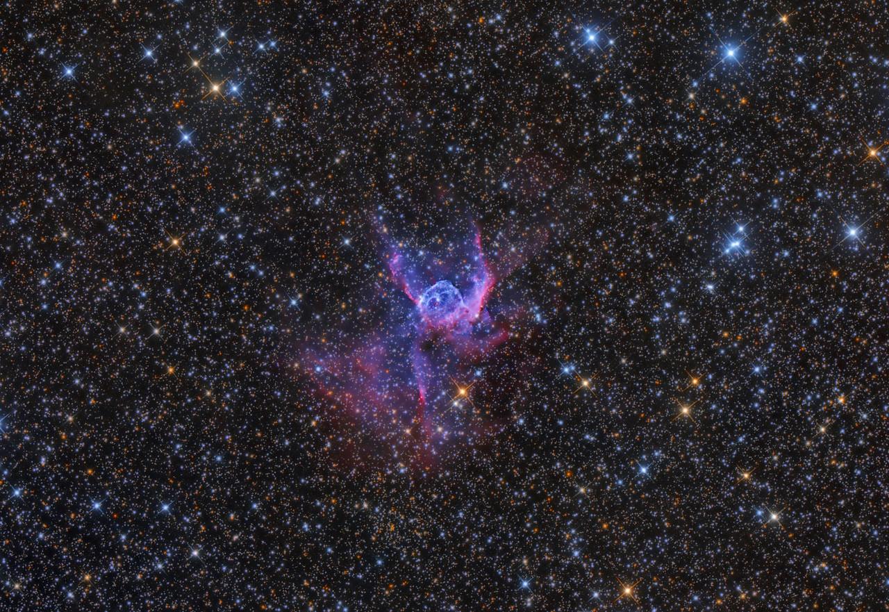 NGC 2359 Thor's Helmet 21X1200 -40C ASA N10 F3.59 NMSkies 2-5-2013 FLI Microline 11002 OSC