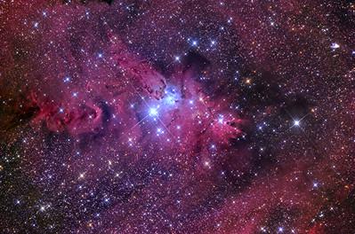 Cone Nebula and Christmas Tree cluster 9X20min FLI Microline 11002 OSC ASA N10 F3.59